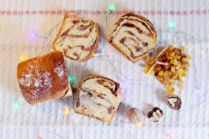 Hintergrundbilder Backware Rosinen Brot Walnuss