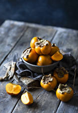 Image Persimmon Boards Food