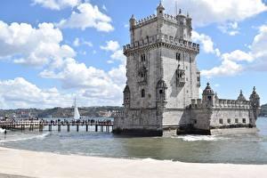 Tapety na pulpit Portugalia Mosty Lizbona Wieża