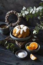 Fonds d'écran Gateau Pound Cake Orange fruit Glacage au sucre   Madrier