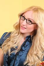 Fotos Rachelle Summers Blondine Starren Brille Haar Mädchens