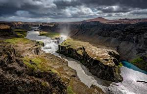 Fotos Fluss Island Landschaftsfotografie Wolke Canyon  Natur