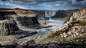 Fotos Flusse Steine Island Felsen Canyons  Natur