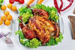 Fotos Hühnerbraten Brokkoli