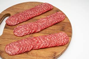 Images Sausage Cutting board Sliced food Food