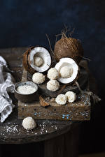 Fotos Süßigkeiten Kokos Bonbon Kugeln