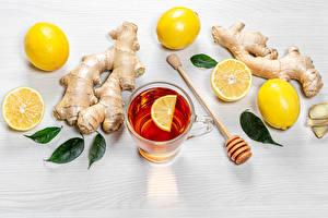Hintergrundbilder Tee Zitronen Ingwer Blatt Das Essen