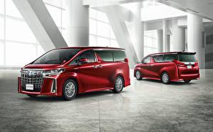 Hintergrundbilder Toyota Ein Van 2 Rot 2018-19 Alphard S auto
