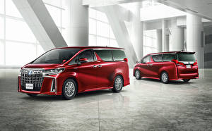 Hintergrundbilder Toyota Ein Van 2 Rot 2018-19 Alphard S
