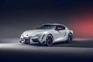 Hintergrundbilder Toyota Weiß 2020 GR Supra A90 2.0L auto