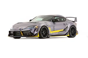 Pictures Toyota White background Grey Metallic Coupe Concept, Supra, 3000GT, 2019, GR Supra, A90 auto