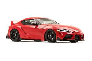 Hintergrundbilder Toyota Weißer hintergrund Rot Metallisch Coupe Supra, Heritage Edition, 2019, GR Supra, A90 auto