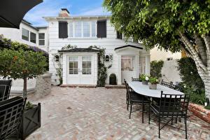 Photo USA Houses California Mansion Design Table Chair Newport Beach Cities