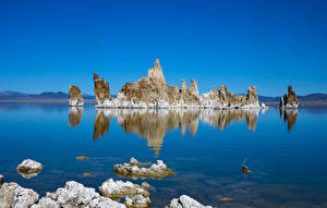 Fotos USA See Kalifornien Felsen Mono Lake Tufa State Natural Reserve Natur