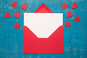 Fotos Valentinstag Vorlage Grußkarte Herz Rot Blatt Papier Brief Briefumschlag