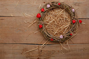 Images Valentine's Day Boards Nest Straw Heart Wreath