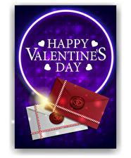 Bilder Vektorgrafik Valentinstag Englischer Text Herz Brief