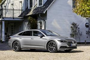 Bakgrundsbilder på skrivbordet Volkswagen Grå Metallisk Arteon, 2018, Elegance Bilar
