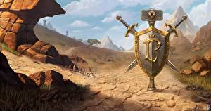 Pictures WoW Shield Swords War hammer 3: Reforged vdeo game