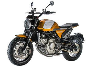 Pictures White background Side 2017-19 Moto Morini Scramble motorcycle