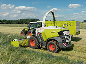 Wallpapers Agricultural machinery Fields Combine harvester 2016-20 Claas Jaguar 950 Worldwide
