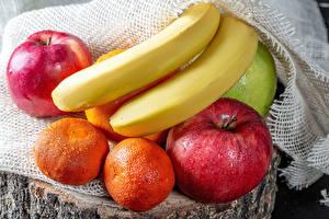 Pictures Apples Bananas Mandarine Drops