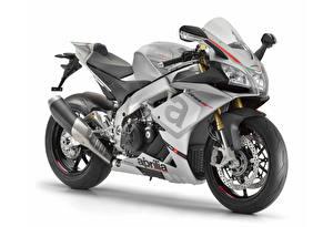 Tapety na pulpit Aprilia Białe tło 2015-16 RSV4 RR motocykl
