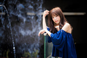 Hintergrundbilder Asiaten Hand Unscharfer Hintergrund Braune Haare