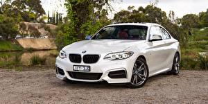 Fotos BMW Weiß Coupe F22 Autos