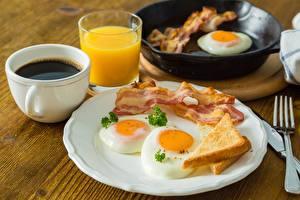 Hintergrundbilder Schinkenspeck Kaffee Spiegelei Frühstück Teller Tasse