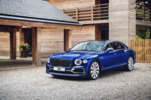 Wallpaper Bentley Blue Metallic 2019-20 Flying Spur First Edition Worldwide auto