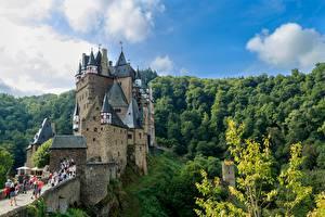 Hintergrundbilder Burg Wald Deutschland Festung Eltz, Rhineland-Palatinate Städte