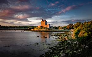 Hintergrundbilder Burg Irland Bucht Dunguaire Castle, Galway Bay Natur