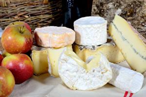 Hintergrundbilder Käse Äpfel Lebensmittel