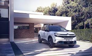 桌面壁纸,,雪铁龙,白色,混合動力車輛,跨界休旅車,2020 C5 Aircross SUV Hybrid Worldwide,汽车