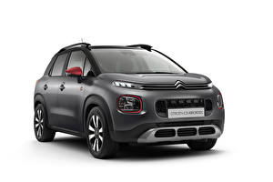 Wallpapers Citroen White background Gray 202 C3 Aircross C-Series automobile