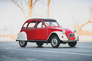Wallpapers Citroen Vintage Side Red  automobile