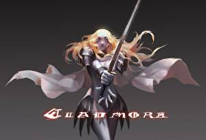 Bilder Claymore - Anime Krieger Schwert Rüstung Rotschopf Teresa, Pinuoxixi Anime Mädchens Fantasy