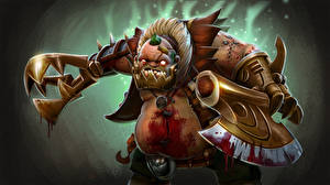 Pictures DOTA 2 Butcher Monsters Battle axes