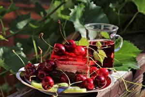 Wallpapers Dessert Berry Cherry Plate Mug Foliage Food
