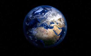 Bakgrundsbilder på skrivbordet Jorden Svart bakgrund
