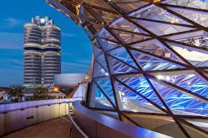 Hintergrundbilder Abend Gebäude München Deutschland Bayern Bmw Welt Städte