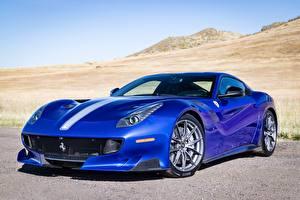 Bilder Ferrari Blau Gran Turismo F12 TDF Autos