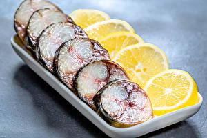 Hintergrundbilder Fische - Lebensmittel Zitronen Geschnittenes