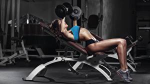 Images Fitness Legs Dumbbell Workout female
