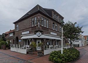 Fotos Deutschland Gebäude Stadtstraße Straßenlaterne Strauch Restaurant Norderney, Neptun Städte