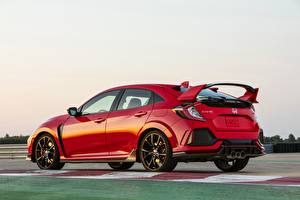 Hintergrundbilder Honda Rot Metallisch 2019, Civic Type R, 5th gen, FK8 auto