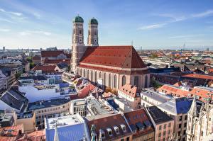 Hintergrundbilder Gebäude Kirchengebäude München Deutschland Türme Bayern Frauenkirche Städte