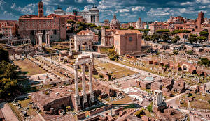 Pictures Italy Rome Ruins Famous buildings Building Palatine Hill