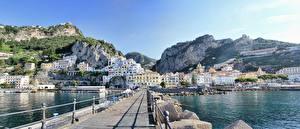 Fotos Italien Steine Küste Brücken Amalfi Salerno Städte
